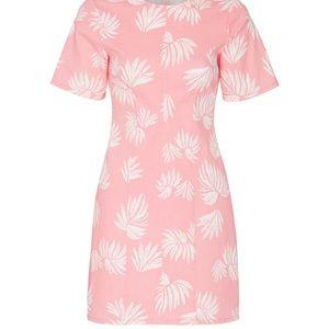 Cinq A Sept Pink Floral Short Sleeve Dress